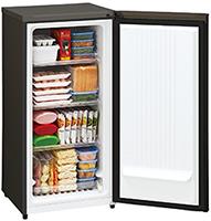 前開き冷凍庫の内部